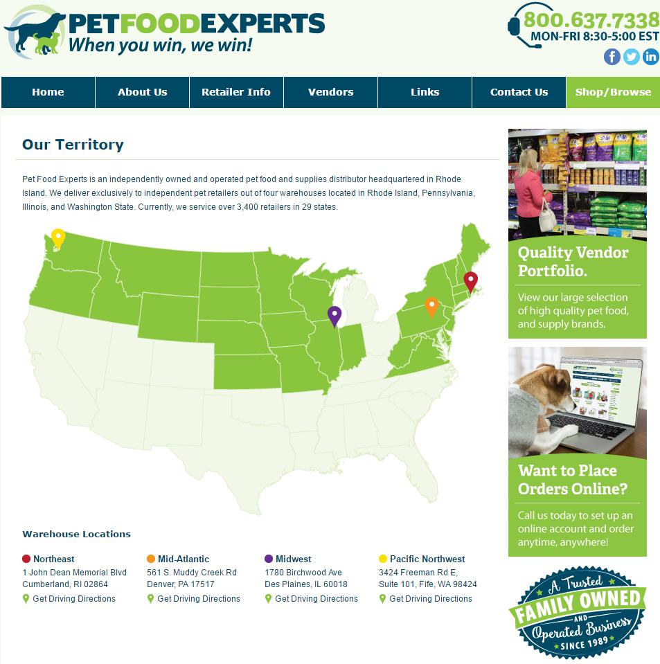 Pet Food Distributors Illinois